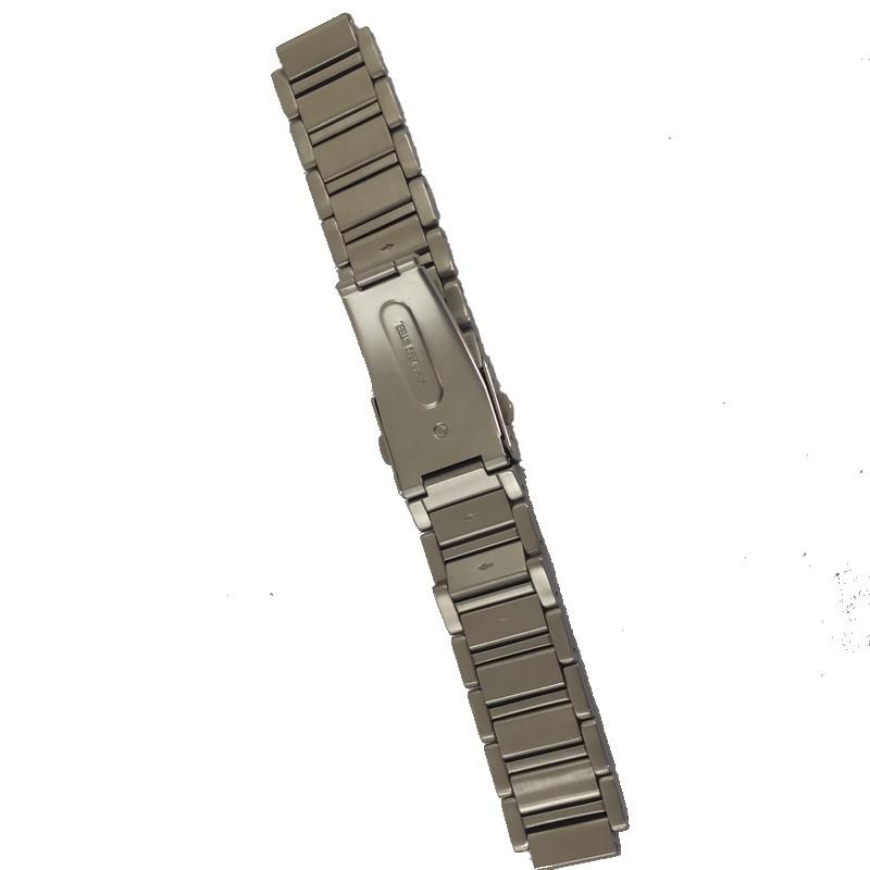 Pulseira De Aço 15mm Interno 21mm Externo Náutica 95013-3  - E-Presentes