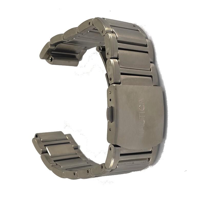 Pulseira De Aço 15mm Interno 22mm Externo Náutica 95001-1  - E-Presentes