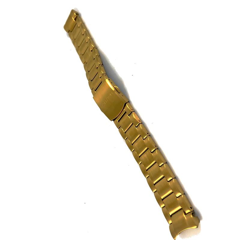 Pulseira De Aço Dourado 17mm Náutica A23595  - E-Presentes