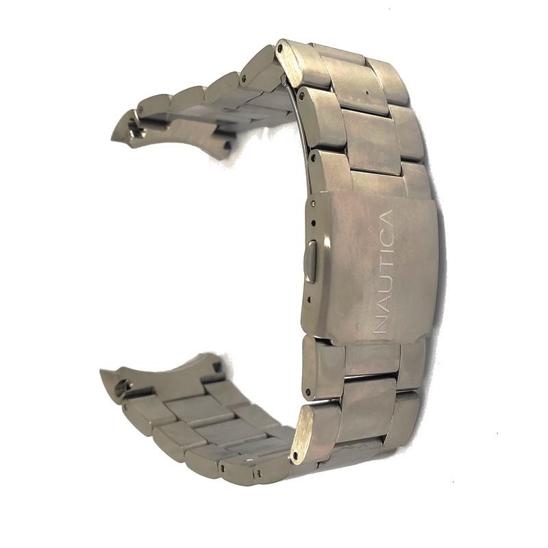 Pulseira De Aço Dourado 22mm Náutica 95139-3  - E-Presentes