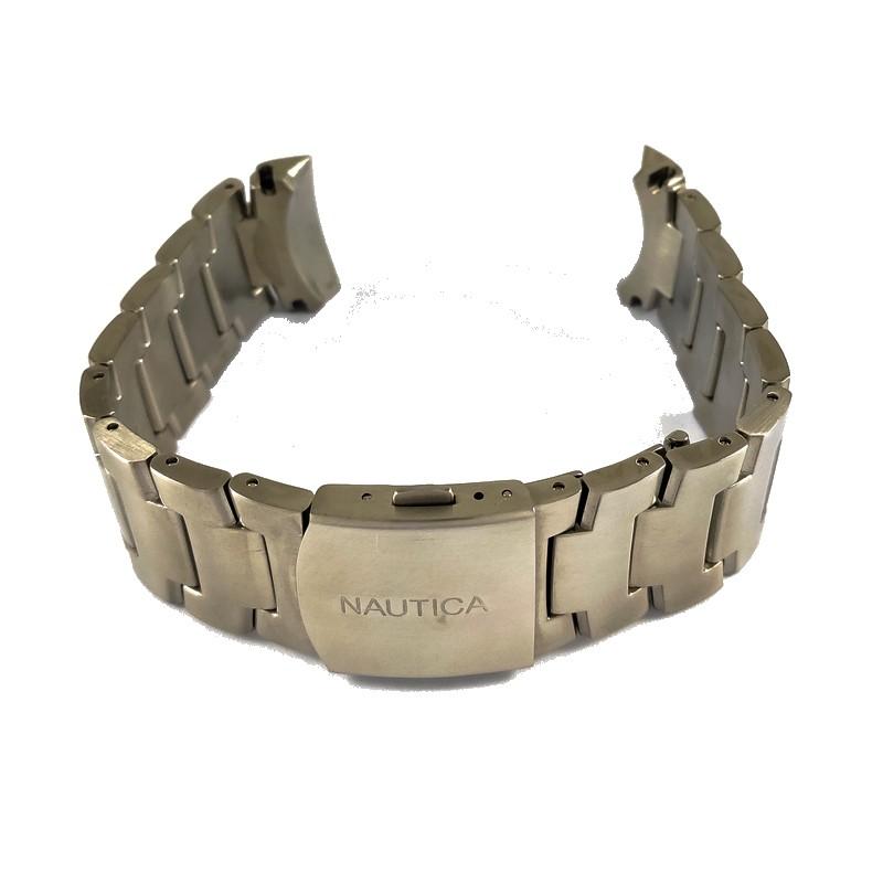 Pulseira De Aço Dourado 24mm Náutica 95000-2  - E-Presentes