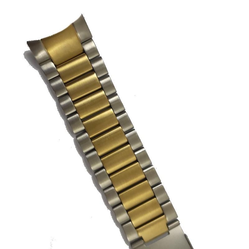 Pulseira De Aço Prata Com Dourado 22mm Náutica 95114-1  - E-Presentes