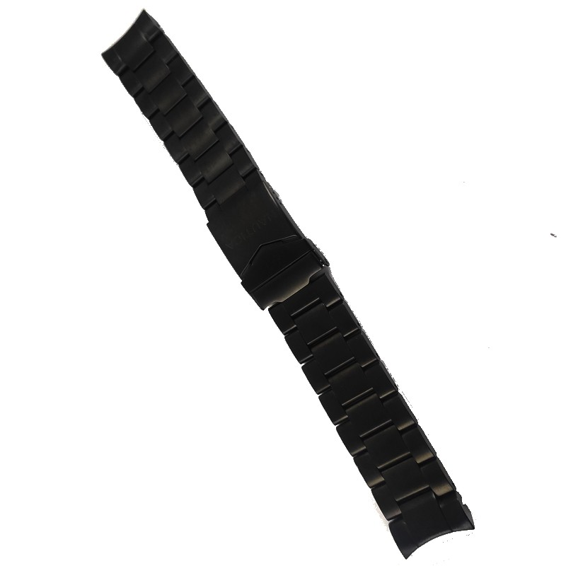 Pulseira De Aço Preta 22mm Náutica 95015-5  - E-Presentes