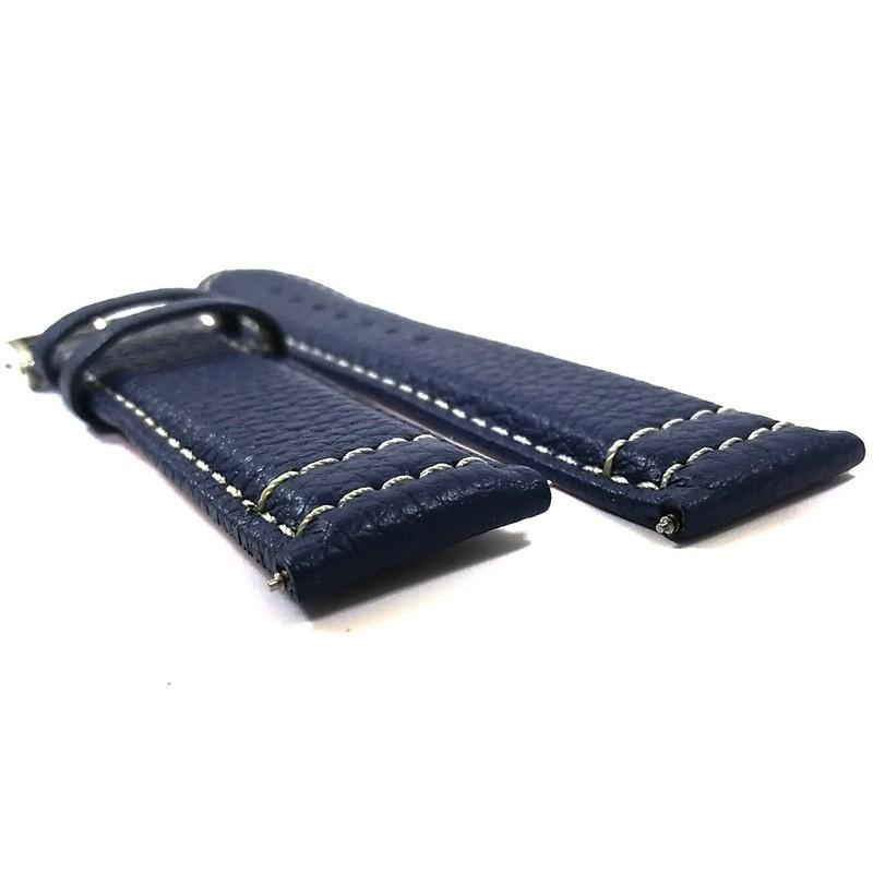 Pulseira De Couro Azul 22mm Náutica 95111-2  - E-Presentes