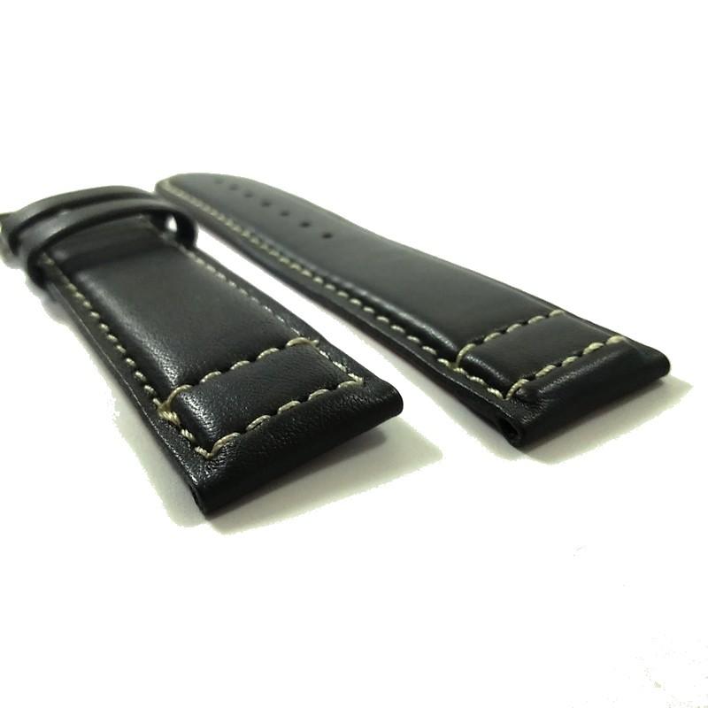 Pulseira De Couro Legítimo Cinza Escuro 22mm Náutica 95089-1  - E-Presentes