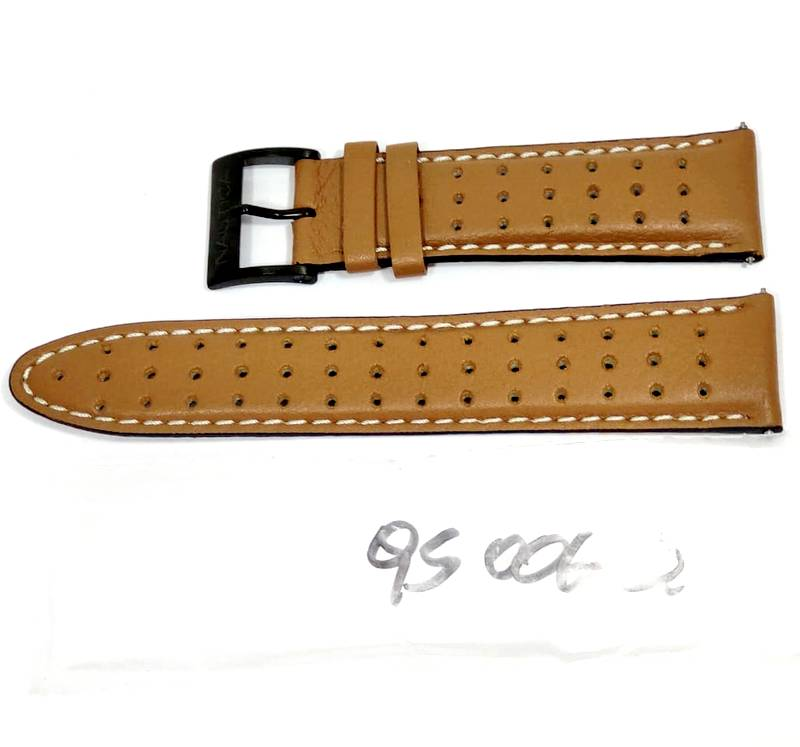Pulseira De Couro Legítimo Marrom 22mm Náutica 95006-2  - E-Presentes