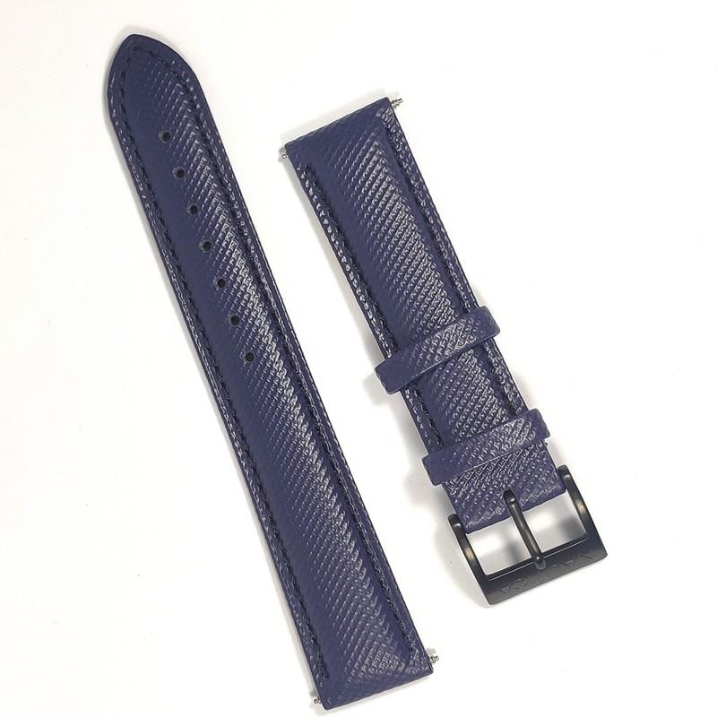 Pulseira De Nylon e Couro Azul 18mm Náutica 95074-3  - E-Presentes