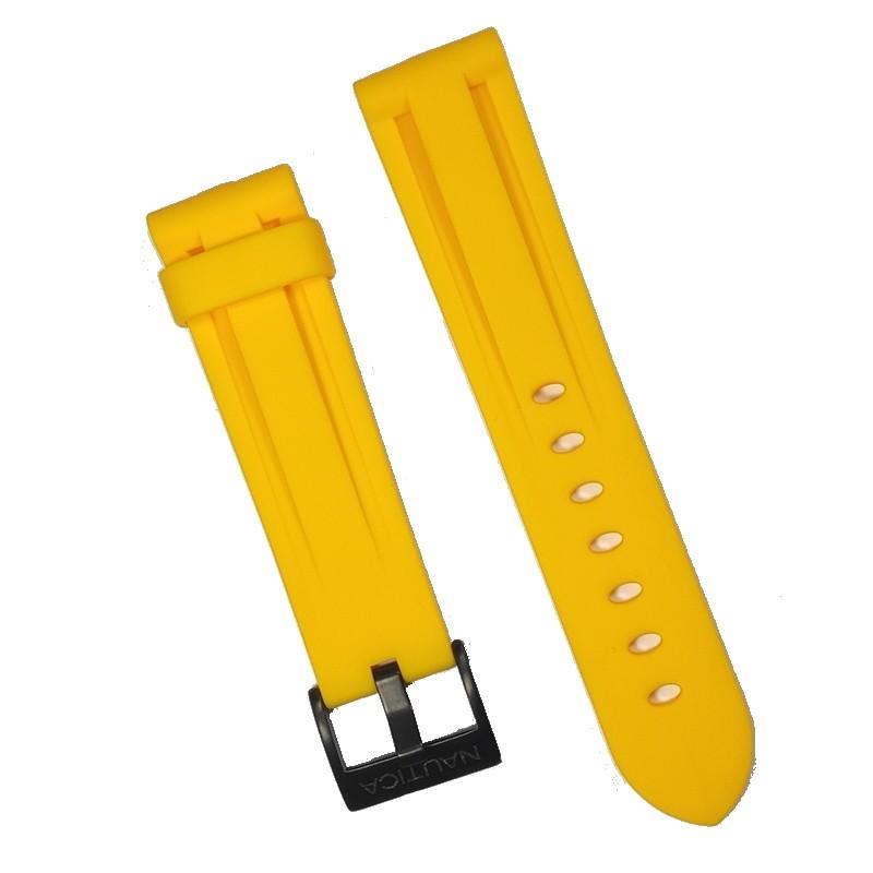 Pulseira De Resina Amarela 22mm Náutica 95097-8  - E-Presentes