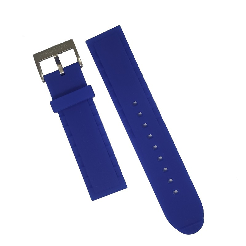Pulseira De Resina Azul 22mm Náutica 95099-2  - E-Presentes