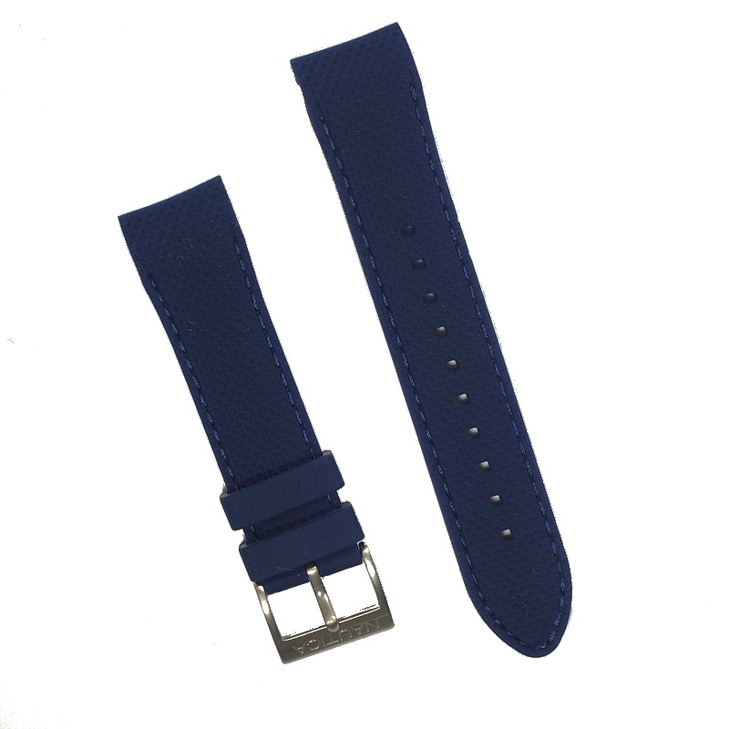 Pulseira De Resina Azul 22mm Náutica 95149-1  - E-Presentes