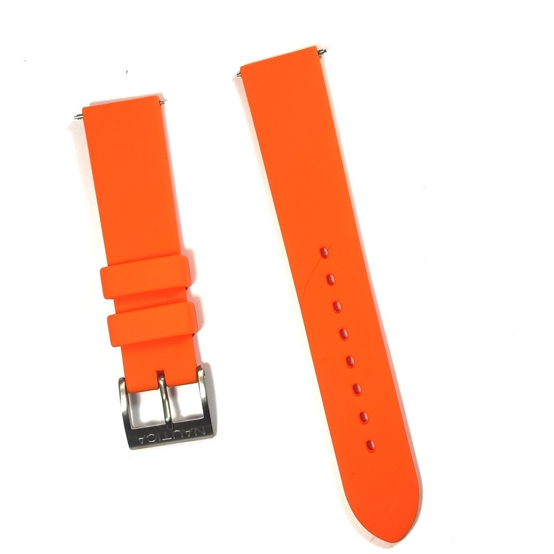 Pulseira De Resina Laranja 20mm Náutica 95066-1  - E-Presentes