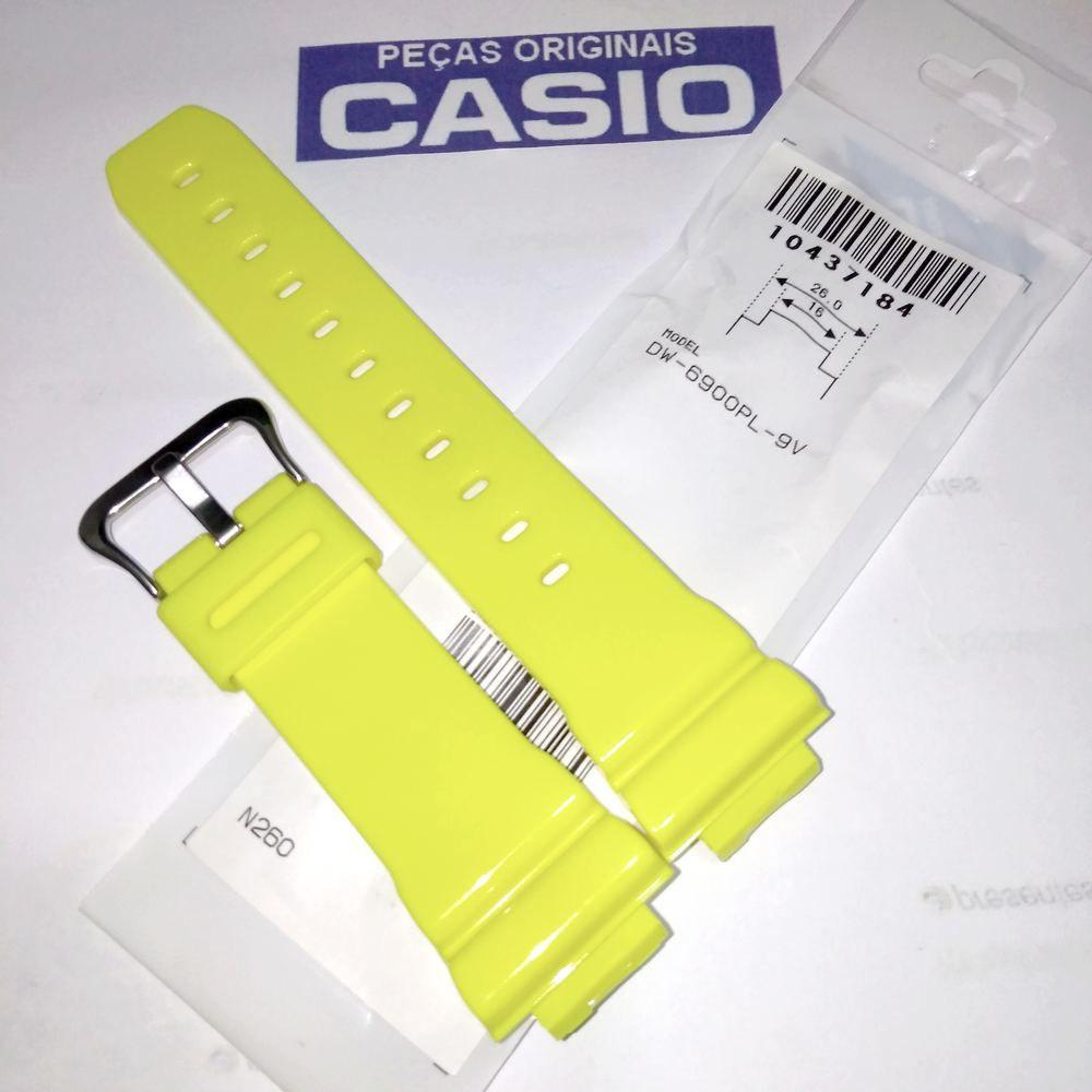 Pulseira DW-6900PL-9 Amarelo Brilhante 100% Original Casio G-Shock  - E-Presentes