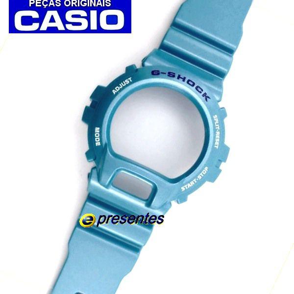 Pulseira e Bezel Azul G-shock DW-6900CB-2 - Peças Originais  - E-Presentes