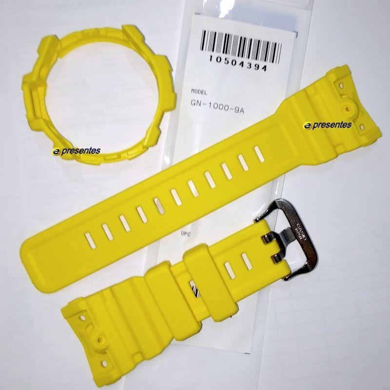 Pulseira e Bezel (capa) Casio G-Shock GN-1000-9a Amarelo  - E-Presentes