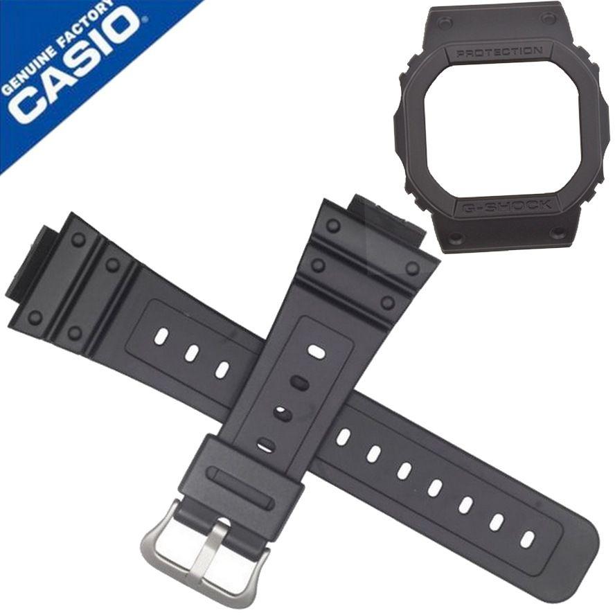 Pulseira e Bezel Casio DW-5600BB-1 Pulseira Preto Fosco -  100% original   - E-Presentes
