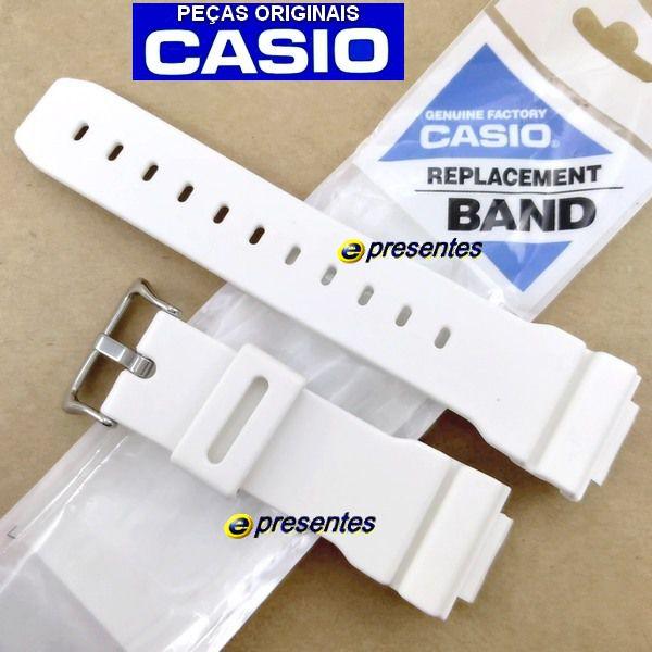 Pulseira e Bezel  Casio G-shock G-6900A-7 GW-6900A-7 Branco Fosco   - E-Presentes