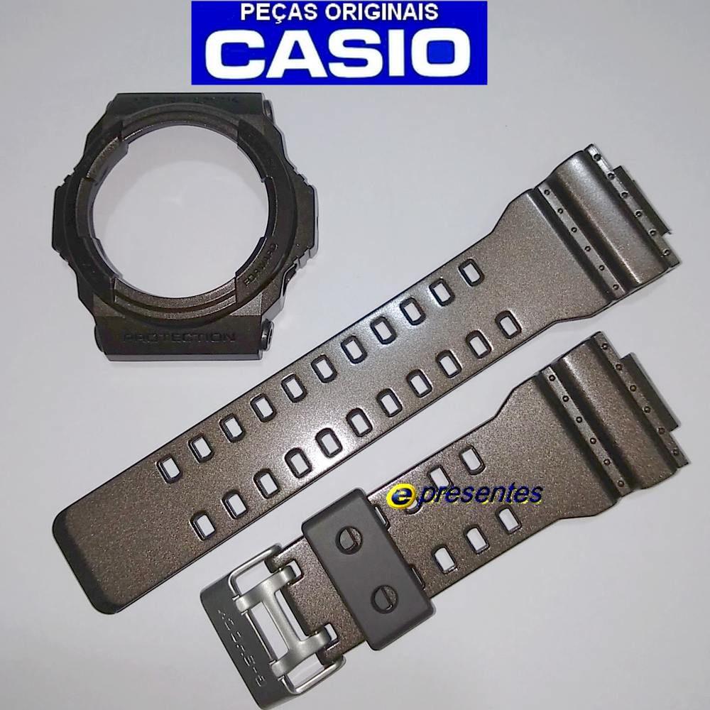 Pulseira e Bezel Casio G-shock GA-300a-5a Marrom Brilhante - 100% Original  - E-Presentes