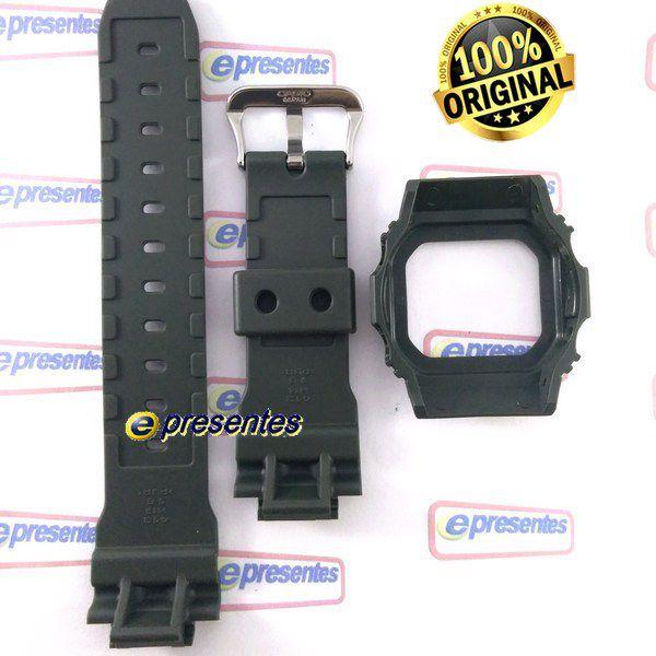 Pulseira e Bezel G-5600A-3 e GW-M5600A-3 Verde Casio G-shock - Peças Originais  - E-Presentes