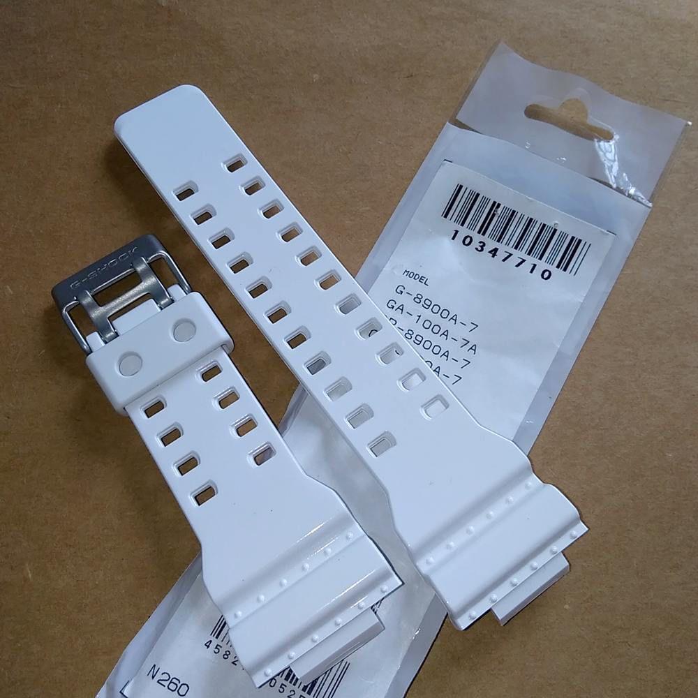 Pulseira e Bezel G-8900A-7 Branco Brilhante (verniz) Casio G-Shock - ORIGINAL  - E-Presentes