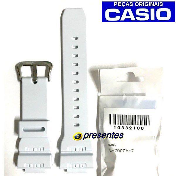 Pulseira G-7900a-7 Branco Casio G-shock- 100% Original *  - E-Presentes
