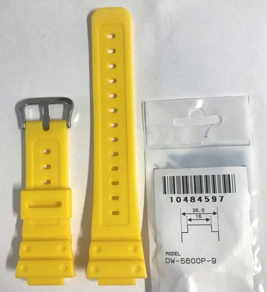 Pulseira Casio G-shock Dw-5600fs-9 DW-5600P-9 Resina Amarelo Fosco  - E-Presentes