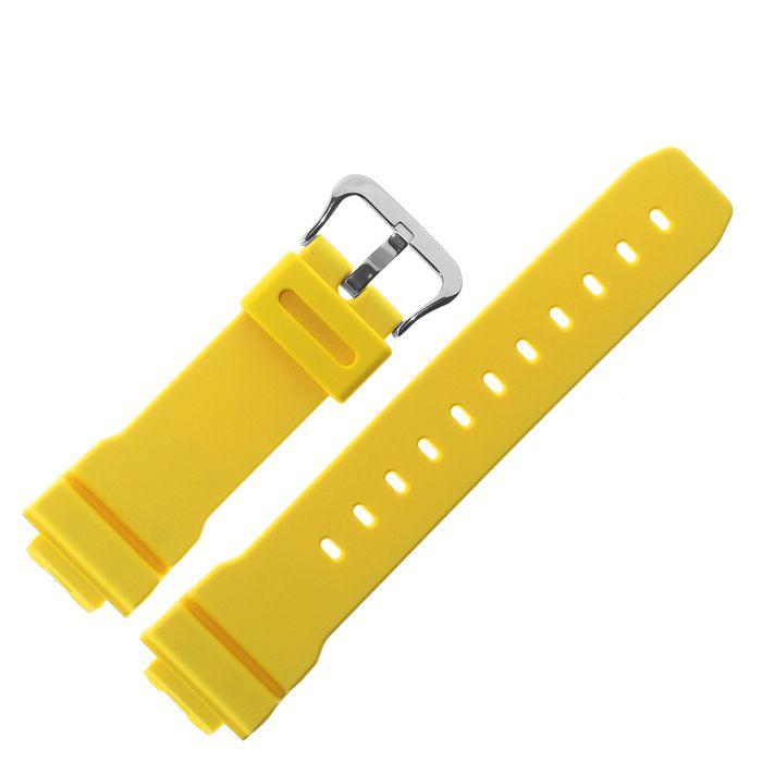 Pulseira G-shock Amarelo Fosco 16MM G-5600a-9, G-6900a-9, GW-6900a-9, GW-M5600a-9  - E-Presentes