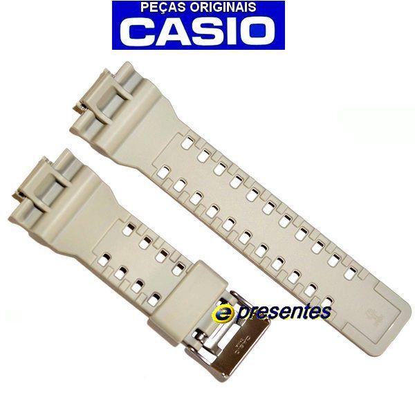 Pulseira Ga-100SD-8A Casio G-shock Resina BEGE *  - E-Presentes