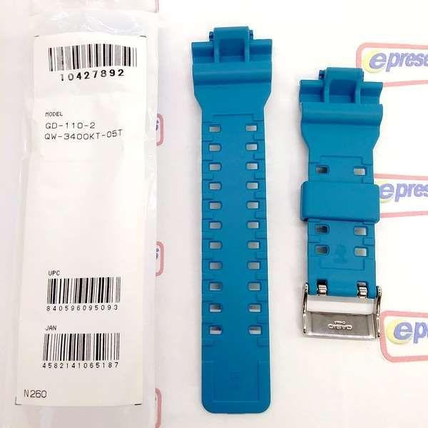 Pulseira GD-110-2DR Casio G-Shock Azul Claro - Peças Originais  - Alexandre Venturini