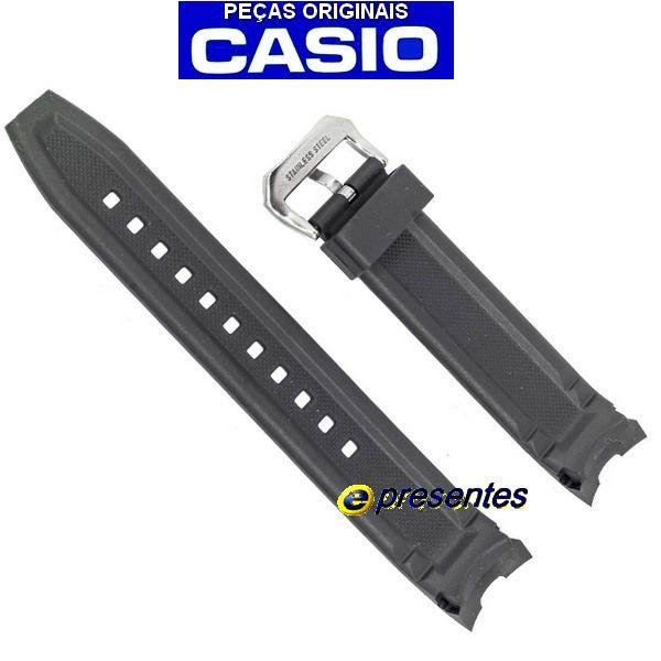 Pulseira Genuína Casio Edifice EMA-100-1AV Resina preta  - E-Presentes