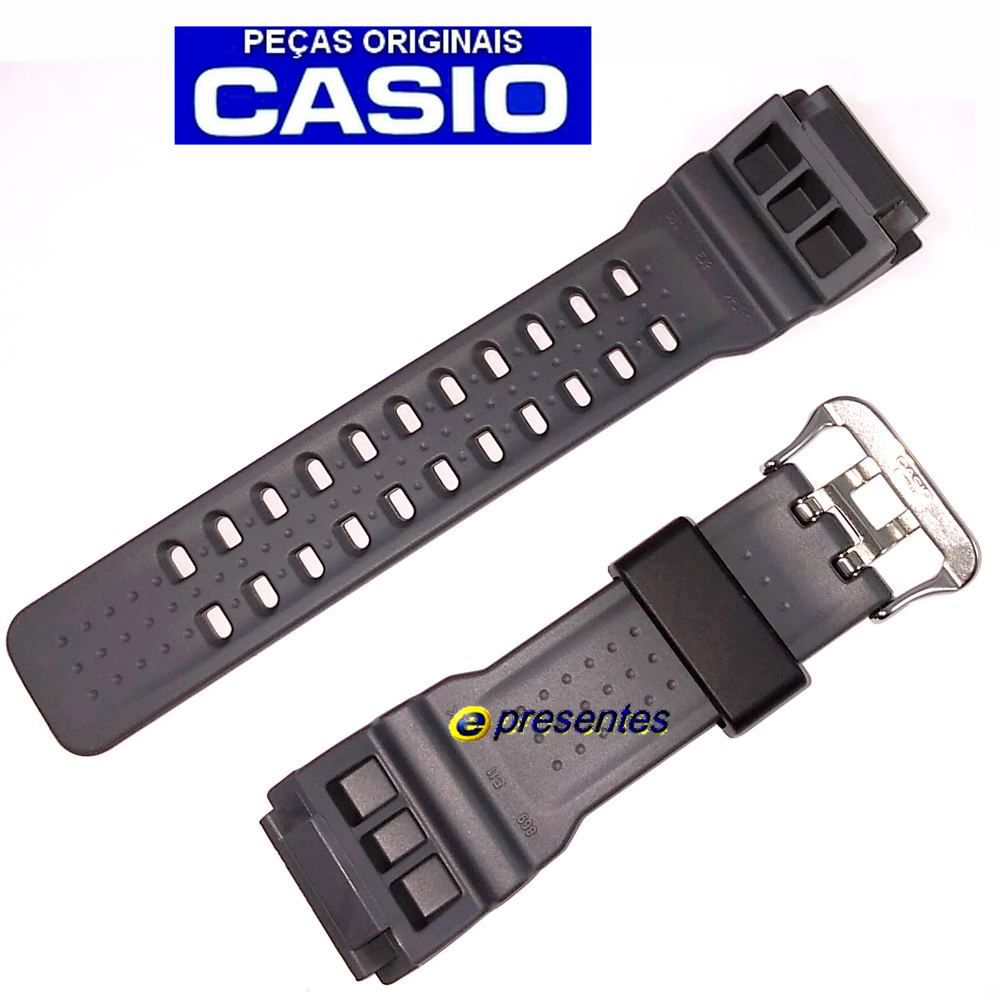 Pulseira GG-1000-1A8 Casio G-Shock Mudmaster Resina Cinza *  - E-Presentes