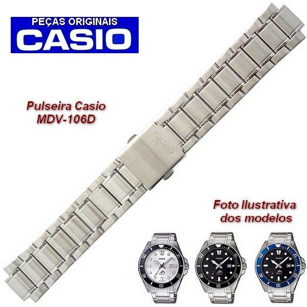 Pulseira Original  Casio Aço inox Mdv-106d  - Alexandre Venturini