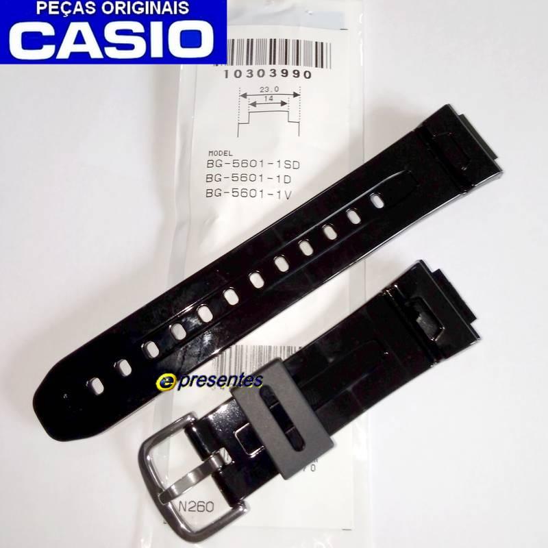 Pulseira Original Casio BG-5601 Baby G Preto brilhante (Verniz)  - E-Presentes