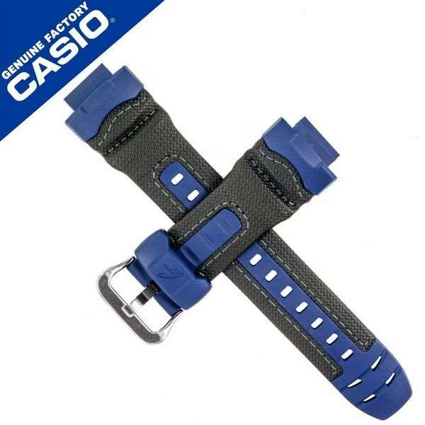 Pulseira Original Casio G-shock G-7710RL-2 Resina Couro Azul/Preto  - E-Presentes