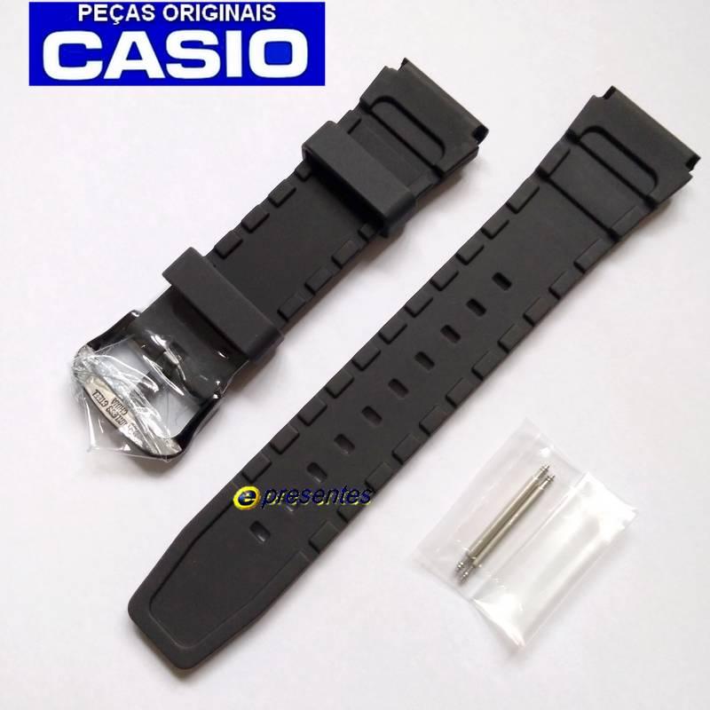 Pulseira Original Casio MTD-1069  Resina Preta  - E-Presentes