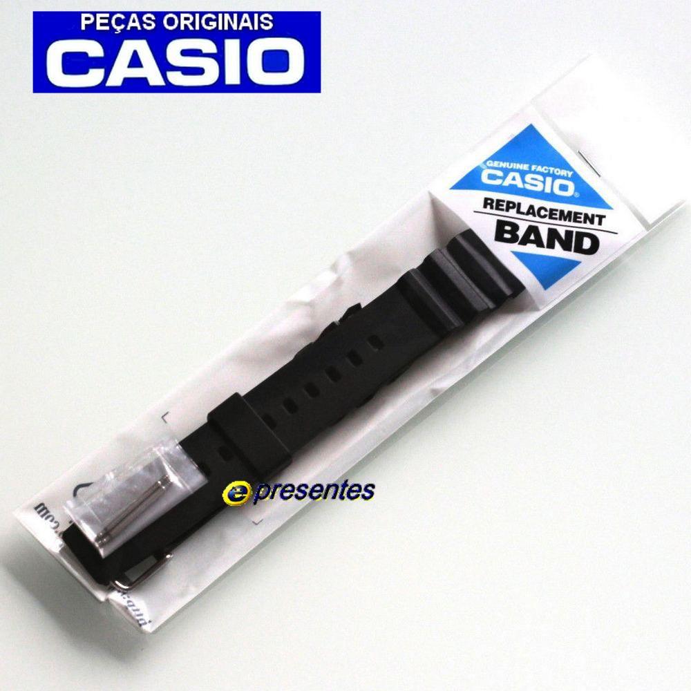 Pulseira Original Casio MTD-1080 Resina Preta  - E-Presentes