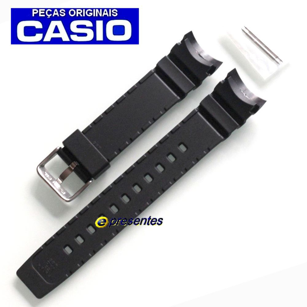 Pulseira Casio MTD-1080 Resina Preta (20mm / 31,5mm)  - E-Presentes