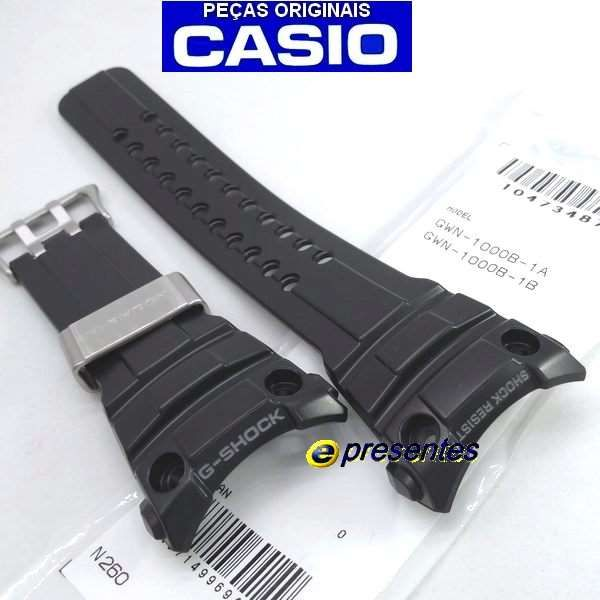 Pulseira Original GWN-1000B Casio G-shock Resina Preta  - Alexandre Venturini