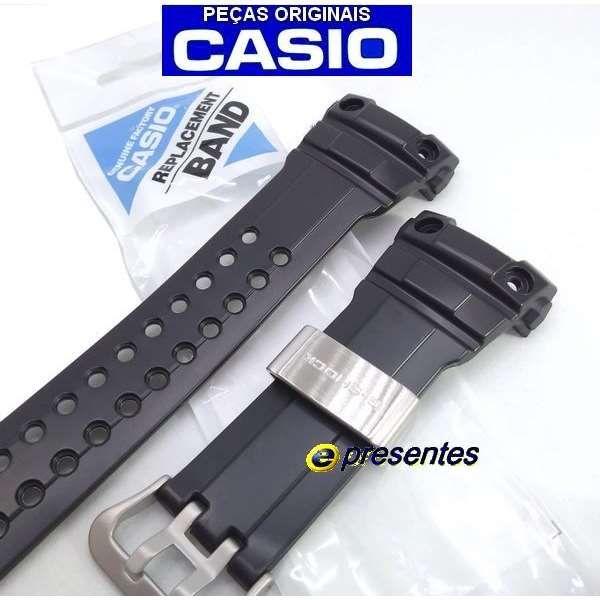 Pulseira Original GWN-1000B Casio G-shock Resina Preta  - E-Presentes