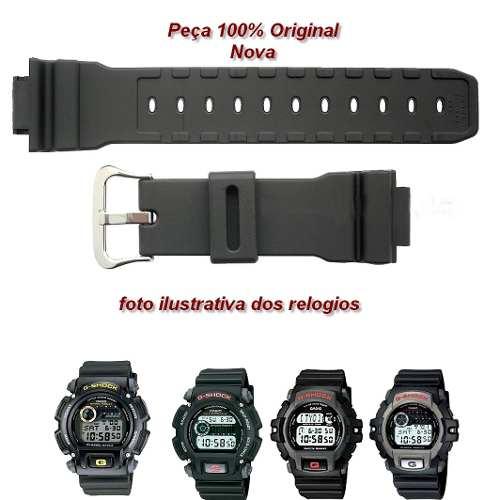 Pulseira + Par de Pinos Casio G-Shock DW-9052 DW-9051 DW-9050 DW-004 G-2200 G-2210  - E-Presentes
