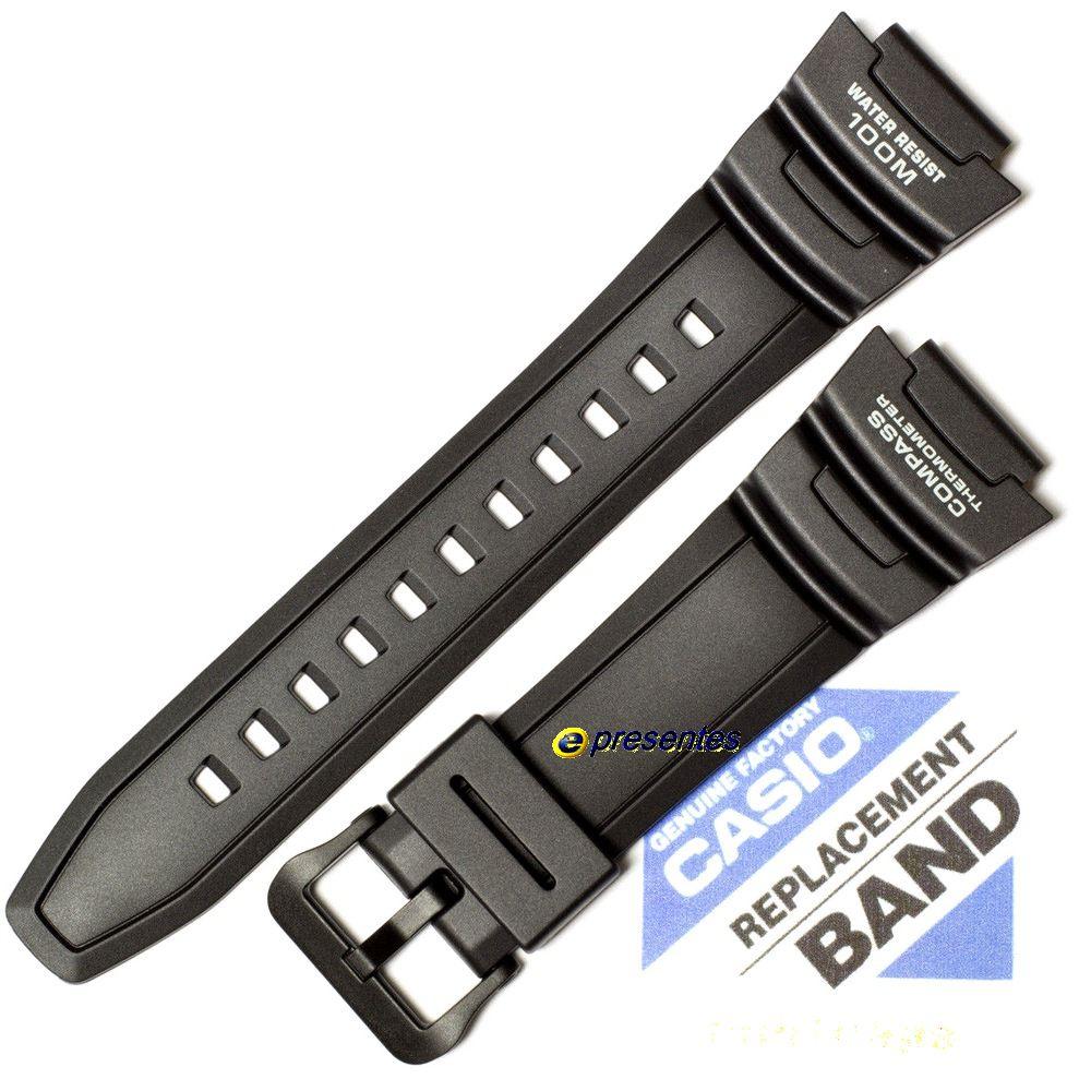 Pulseira + Par de Pinos Casio SGW-500h-1 Resina Preta   - E-Presentes