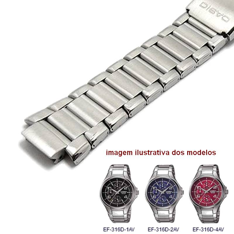 Pulseira Relógio Casio EF-316d Edifice Aço Inox  - E-Presentes