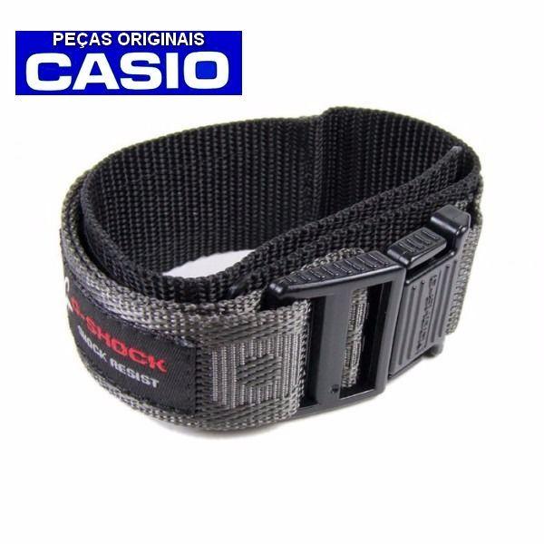 Pulseira Tecido Nylon Velcro Casio G-Shock Cinza G-2900v 23mm  - E-Presentes