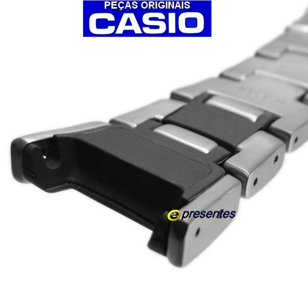 Pulseira Titanio Casio Protrek PRW-1500TJ-7 PRG-130T-7V PRW-1500T-7V - 100% Original  - E-Presentes