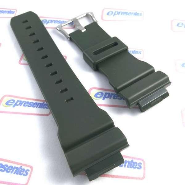Pulseira Verde Casio G-shock G-5600A-3 DW-5600FS-3 GB-6900B-3 GW-M5600A-3 *  - E-Presentes