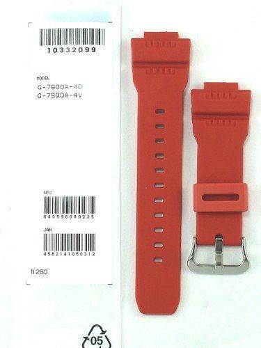 Pulseira Vermelha + Par de Case back G-7900 Casio G-Shock  - E-Presentes