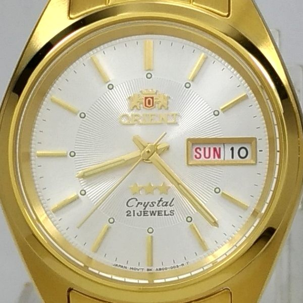 Relógio Automático Orient Dourado FAB00004W9 37mm 3 estrelas  - Alexandre Venturini