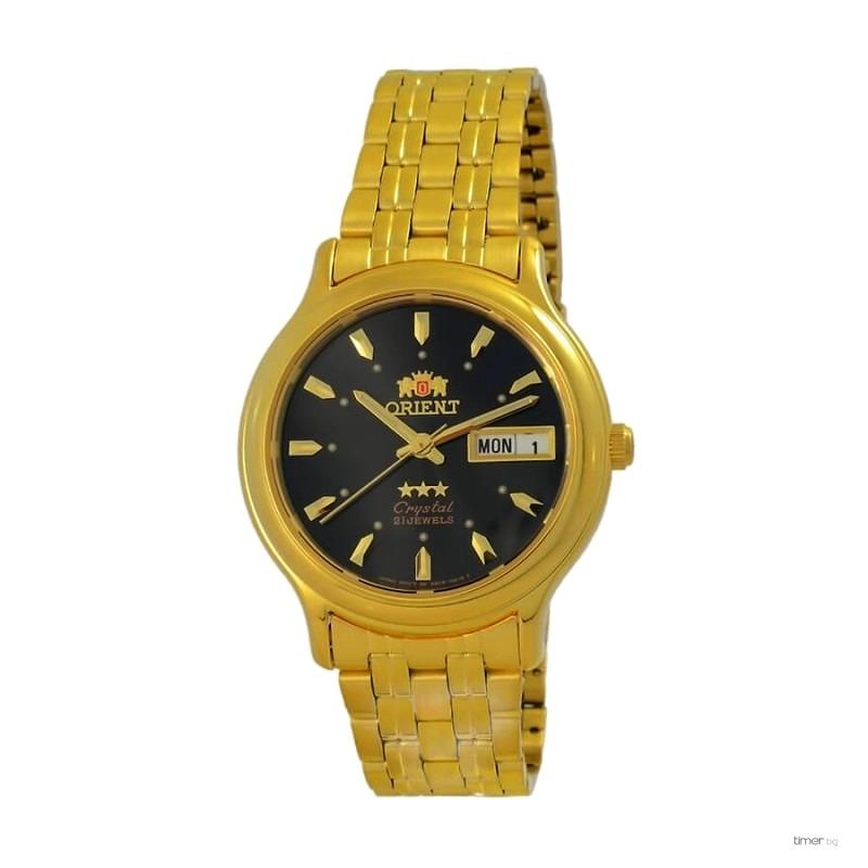 Relógio Automático Orient Dourado FAB05004B9 36mm 3estrelas  - E-Presentes