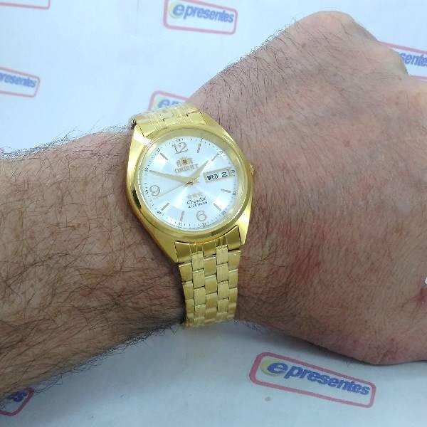 Relógio Automático Orient Dourado Masculino FAB0000CW9 36mm 3estrelas  - Alexandre Venturini