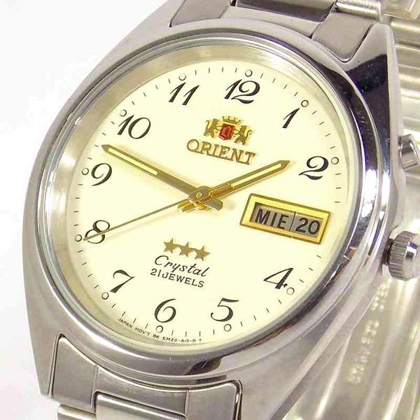 Relógio Automático Orient Fem0401VC9 Original 37mm 3estrelas 21 Jewels  - E-Presentes