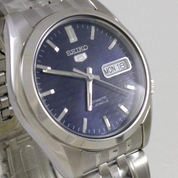 Relógio Automatico Seiko Azul snk357k1 aço inox 37mm  - E-Presentes